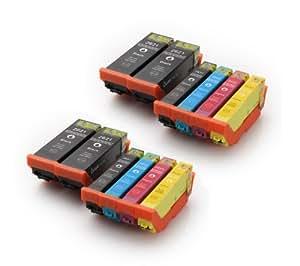 Multipack - 12 Tintenpatronen kompatibel zu Epson (T2636) T2621 T2631 T2632 T2633 T2634 für Epson Expression Premium XP-600 XP-605 XP-700 XP-800. Sie erhalten 4x schwarz + 2x photoschwarz + 2x cyan + 2x magenta + 2x gelb