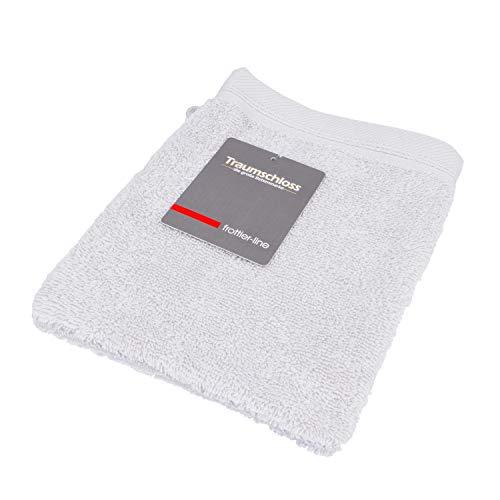 Traumschloss Frottier-Line Waschhandschuh aus Baumwolle, Farbe:hellgrau, Größe:16x21