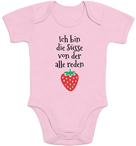 Ich bin die Süsse - Baby Mädchen Geschenk Baby Body Kurzarm-Body 57/68 (3-6M) Rosa