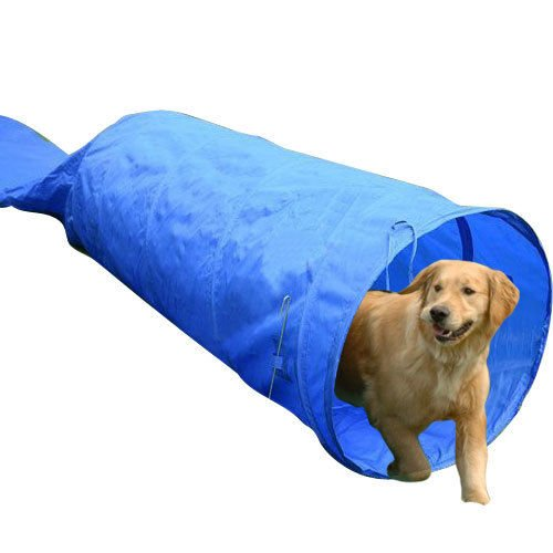 5m Long Dog Tunnel Rigid Agility Training Equipment with Carrying Bag BY HOMCOM
