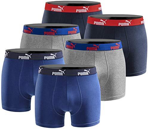 Puma Herren Boxershort Limited Statement Edition 6er Pack - Sodalite Blue - Gr. S - Mens Blau Baumwolle Boxer