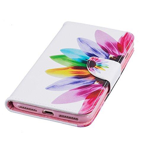 TIODIO® Housse en cuir Pour Apple iphone 7 Plus/ iphone 7G Plus PU étui en cuir / case/ coque/ cover/ housse avec la fonction de stand+1 x Stylet+1 x film de protection d'écran, A10 A10