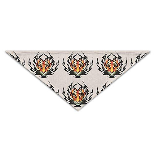 iger Gesicht Tier Hund Bandanas Schals Dreieck Lätzchen Schals Cool Basic Halstuch Katze Halsbänder ()