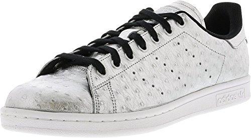 adidas Originals Stan Smith Schuhe Echtleder-Sneaker Turnschuhe Silber AQ4706, Größenauswahl:43 1/3 (Adidas-hi-top Schuhe Frauen)