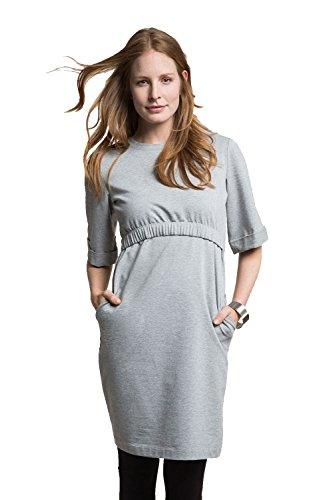 Boob 1532 Uma - robe maternité allaitement, 2 coloris, tailles S - L grau