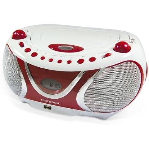 Metronic 477117 - Reproductor de CD, MP3 y radiocasete con USB [Importado de Francia]