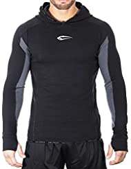 SMILODOX Slim Fit Kapuzenpullover Herren | Hoodie für Sport Fitness Gym Training & Freizeit | Trainingsjacke - Sportpullover - Sweatjacke - Kapuzenpulli mit Print
