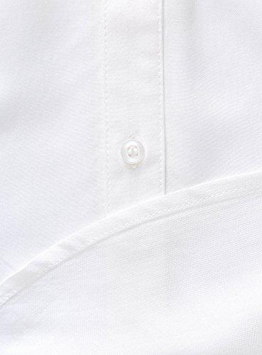 oodji Ultra Femme Top en Viscose avec Poche de Poitrine Blanc (1200N)