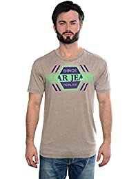 Men's Slim Fit Graphic SOUTH - Beige Vintage Style manches courtes Pure Cotton T-Shirts par GEAR