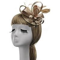YUNGUANG Velo - Velo Nupcial Elegante de Las Mujeres Sombrero Encantador Sombrero Boda Debbie Tea Party Sombrero de Cóctel Sombrero Tocado Accesorios (Color : Champagne)