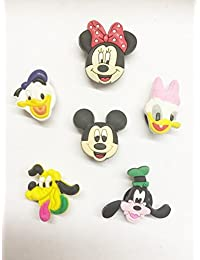 6 Mickey Mouse Clubhouse Shoe Charms For Crocs & Jibbitz Wristbands