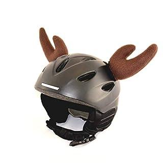 Helm-Ohren Tierohren für den Skihelm, Snowboardhelm, Kinder-Helm, Kinder-Skihelm oder Motorradhelm - Der HINGUCKER - für Kinder und Erwachsene HELMDEKO (Elch Braun)