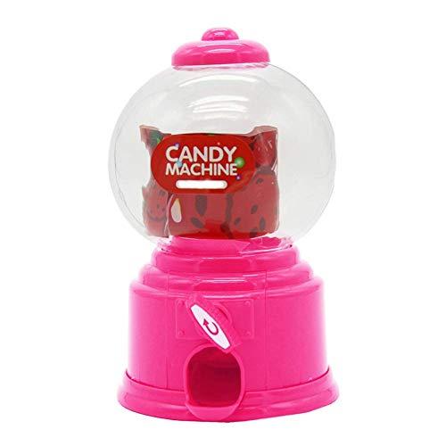 Usuny Süße Sweet Mini Bonbon Maschine Bubble Kaugummi Spender Münze Bank Kinder Spielzeug Kinder Geschenk - Rosa