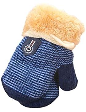 Handschuhe Longra, Niedliche Baby Jungen Mädchen Kleinkind verdicken heiße Gestrickte Winter-warmen Handschuhe...