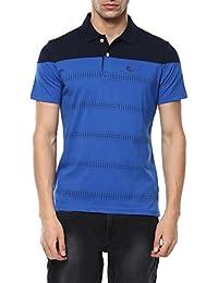 Ajile By Pantaloons Men's Printed Regular Fit T-Shirt (110028421008_Royal Blue_L)