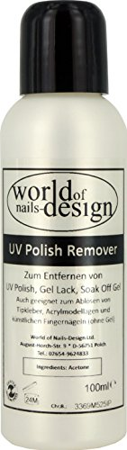 World of Nails-Design UV Polish Remover, Soak off Gel Entferner, 1er Pack (1 x 100 ml)