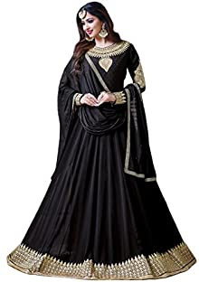 2b1bd73816 Justkartit 2017 Black Color Party Wear Georgette Anarkali Suits /  Fashinable Ladies Casual Occasion Wear Anarkali