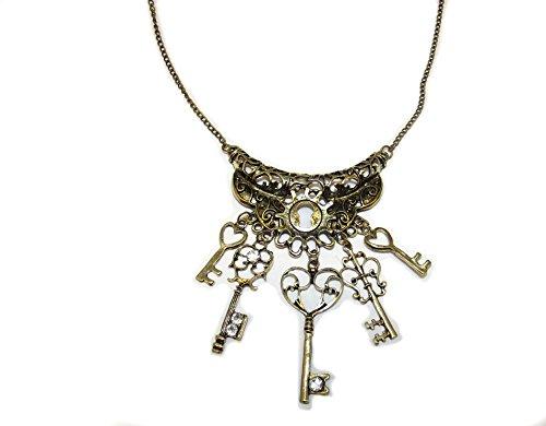 Steampunk Halskette Zahnräder Schlüssel gothic (Zahnrad Steampunk Halskette)