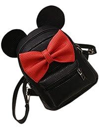 Chicas Mini Sac à Dos estilo bowknot à © cole bolsas à Dos Mujeres Bolsa à Bandouliã ¨ re negro