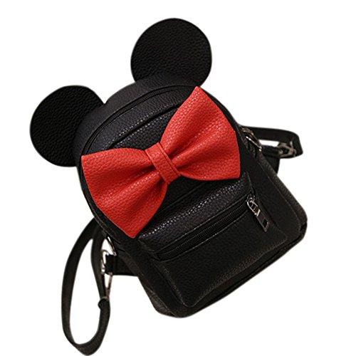 Filles mini sac à dos style bowknot école sacs à dos femmes sac à bandoulière