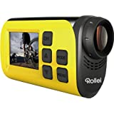 Rollei S-30 WiFi Plus Actioncam und Helmkamera (3,8 cm (1,5 Zoll)TFT Display, 2 Megapixel CMOS Sensor, Full HD Video-Auflösung) gelb