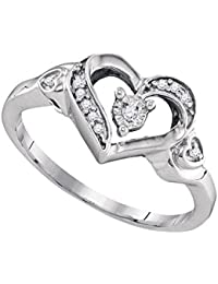 Sólido 925 plata esterlina redondo blanco diamante anillo de compromiso o moda banda ajuste de diente