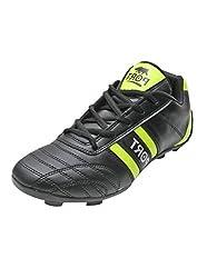 Port Mens Black PU Stud 345 Football Shoes (Size 9 ind/uk)