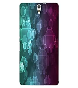 ColourCraft Cartoon Pattern Design Back Case Cover for SONY XPERIA C5 ULTRA DUAL