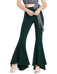 Frauen Sommer Dünne OL Hohe Taille Gefaltete Breite Beinhosen Elastische Taille Mode Kleidung Lässig Patchwork Spitze Hose Palazzo Hose