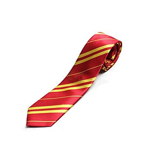 Ndier Uniforme 1pc del Lazo de la Universidad de Cosplay del Traje de Halloween de Accesorios del Estilo de Moda Corbata de Lazo de la Universidad para Harry Potter (Rojo)