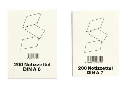 VIKTOR RICHTER Notizzettel f¸r Zettelk‰sten, DIN A7, wei VE = 1