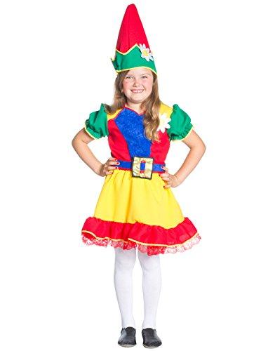 Zwerg Mädchen 116 (Kostüm Mädchen Zwerg)