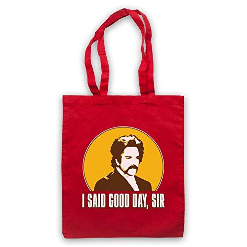 Inspiriert durch Mighty Boosh Dixon Bainbridge I Said Good Day Sir Inoffiziell Umhangetaschen Rot