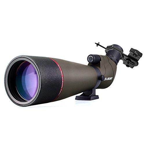 Svbony SV13 Spektiv 20-60x80 Wasserdicht 45Grad abgewinkelt Okular mit Handy Adapter für Vogelbeobachtung Sportschützen