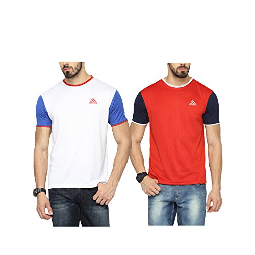 Canyons Solid Men's Round Neck T-Shirt (Pack of 2)