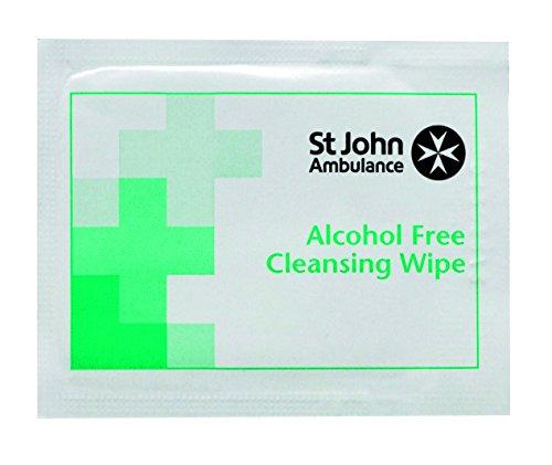 st-john-ambulance-lot-de-10-lingettes-nettoyantes-steriles