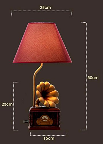 SJQKA-The phonograph, creative table lamp, new Chinese-style table lamps, bedroom bedside lamp, ,Queen