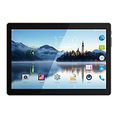 "10.1"" Inch Android Tablet PC, QIMAOO 2GB RAM 32GB Storage Phablet Tablet Quad Core Unlocked 3G Cell Phone Tablets, Dual Camera Sim Card Slots, Wifi, GPS, Bluetooth 4.0,1280x800 HD IPS Screen Display, Google Play"