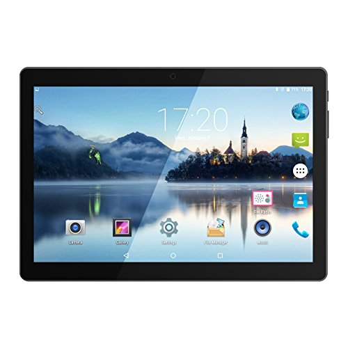 PADGENE® 10.1 Inch Android Tablet 16 GB Tablet PC 64 Bit Quad Core up to 1.3 GHZ Processor MTK 6580 Pad with Dual Camera 2MP+5MP,Built in 2 Normal Sim Card Slots, Bluetooth, GPS, WIFI [2017 New Release]