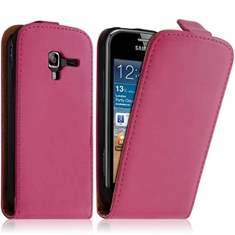 Seluxion - Housse Coque Etui pour Samsung Galaxy Ace 2 Couleur Rose Fushia