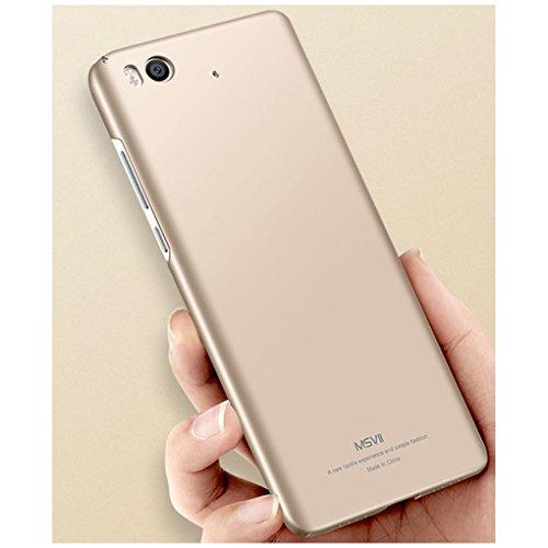 Coque Xiaomi Mi 5s, MSVII® Très Mince Coque Etui Housse Case et Protecteur écran Pour Xiaomi Mi 5s - Rouge / RED JY00292 Or