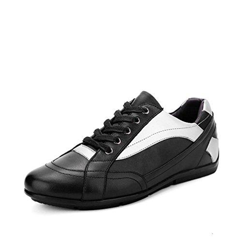 Homme Chaussure de Ville à Lacets Cuir Basket Mode Skate Loisir Antichoc Imperméable Noir 37-47