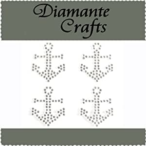 4 Clear Anchors Diamante Vajazzle Rhinestone Gems - created exclusively for Diamante Crafts