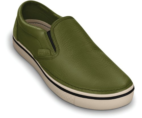 crocs Hover Slip On Leather 11755, Baskets mode homme Army Green/Stucco