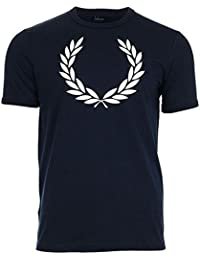 Fred Perry Laurel Wreath Ringer Tee shirt Carbon Blue, T-Shirt