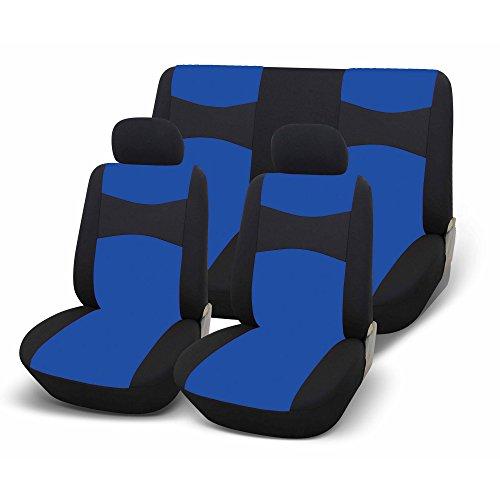 GoodYear 77124 BLUE Set Completo Fodere per Auto Speed Up 2, Universali, Nero/Blu