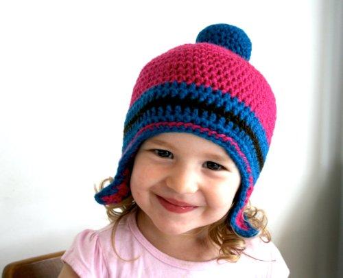 Crochet pattern, Winter pom pom hat pattern (84) (English Edition)
