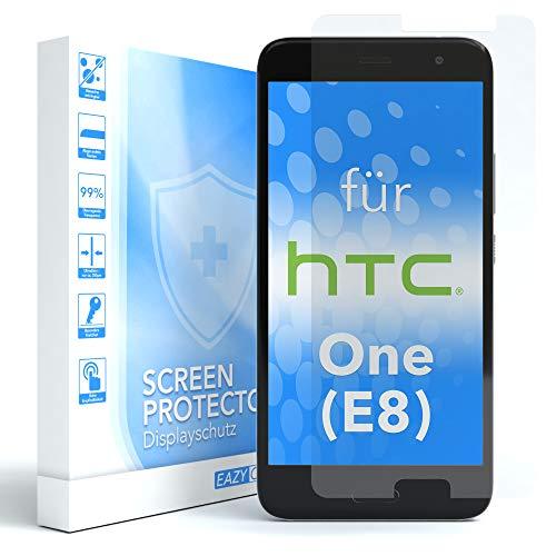 EAZY CASE 1x Panzerglas Displayschutz 9H Härte für HTC One (E8), nur 0,3 mm dick I Schutzglas aus gehärteter 2,5D Panzerglasfolie, Displayschutzglas, Transparent/Kristallklar