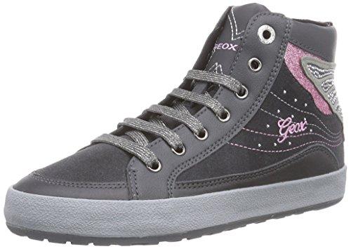 Geox - Jr Witty A, Sneaker alte Bambina Grigio scuro