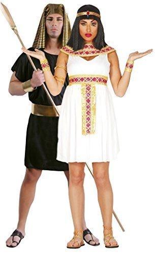Paare Damen & Herren Antike Ägyptische Sexy Kurz Cleopatra Pharao Historical Fancy Dress Kostüm Große 14-16-18 - Mehrfarbig, Mens Large & Ladies Large (14-18)